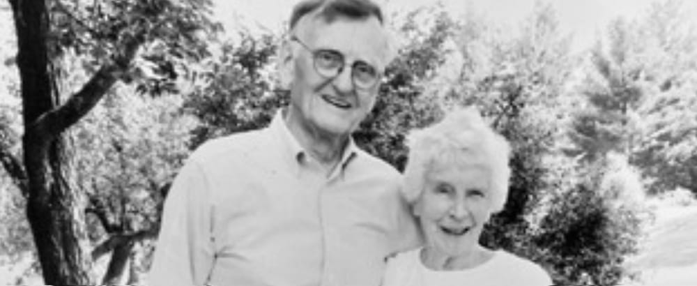 Black and white photo of Bob and Katharine Lynn